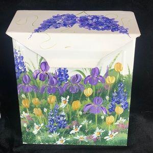 Hand Painted Flower Mailbox